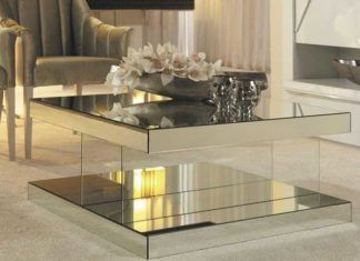 Spruce Up Living Room With These Designer Glass Top Coffee Table Ideas Coffee Table Mirrored Coffee Tables Living Room Modern