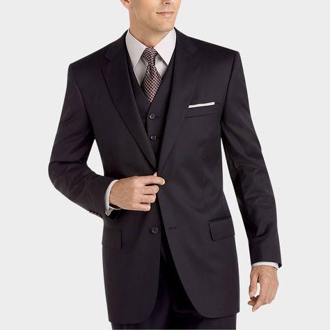 Joseph & Feiss Gold Vested Suit, Black - Classic Fit | Men ...