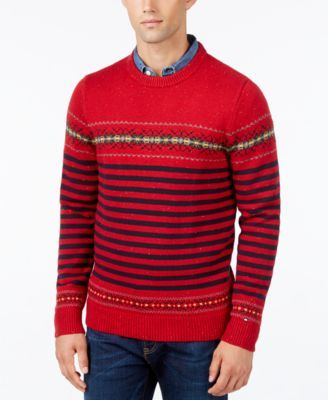 TOMMY HILFIGER Tommy Hilfiger Men's Dominick Donegal Fair Isle ...