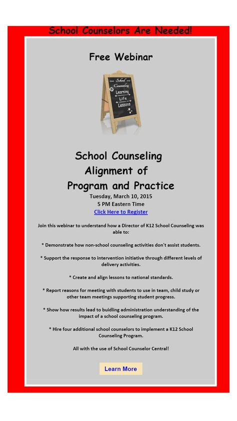 Join this free webinar where Dr. Hardy will share how she was able to increase school counselors and align a comprehensive program to practice as a Director K12 School Counseling Services: https://attendee.gotowebinar.com/regist…/8131572748518075138