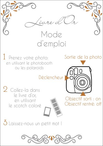Mode Demploi Livre Dor Polaroid
