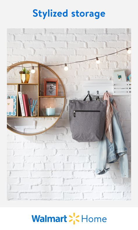 Setting up for the new semester? At Walmart, find everything you need to get (and stay) organized with decorative shelves, boxes, and bins for the win—because nothing says clutter-free like a clutter-free space. #WalmartHome