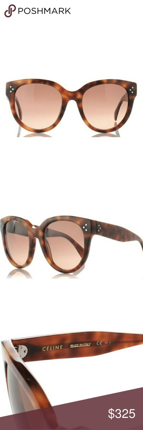a290f788656 Céline Audrey Sunglasses in Havana Brown Style  CL41755. Round Cat Eye  frame. Tortoiseshell