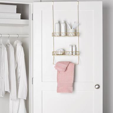 Over The Door Bathroom Storage In 2020 Diy Bathroom Design Bathroom Storage Bathroom Organisation