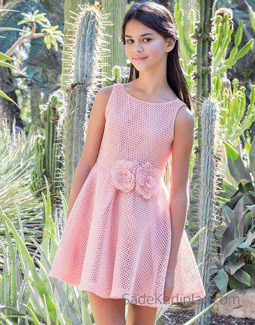 10 Yas 2020 Kiz Cocuk Abiye Elbise Modelleri Pembe Kolsuz Belinde Kumas Cicekli Klos Etek Bebek Giysi Desenlerleri Kizlar Parti Elbiseleri