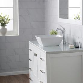 Kraus Elavo White Vessel Square Bathroom Sink 16 5 In X 16 5 In