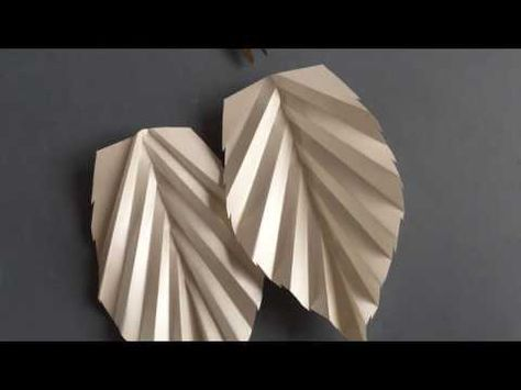 How To Make And Cut Paper Cutting Attractive Leaf Tutorial Step By