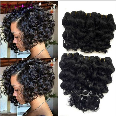 Online Shop Summer New 8 inch Deep wave Tissage Bresilienne Queen Weave Beauty Deep Curly Short Hair With Closure West Kiss Virginhair Deals | Aliexpress Mobile