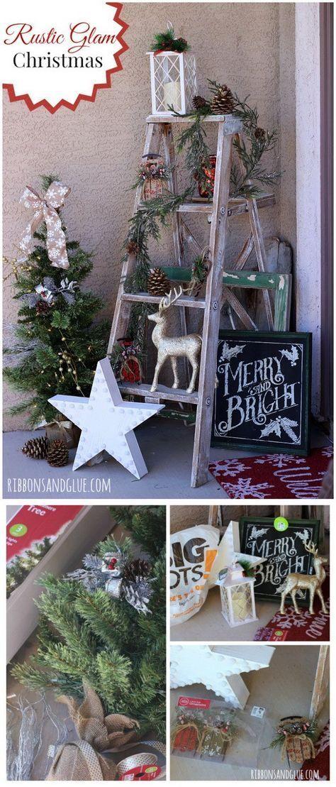 27 Trendy Farmhouse Christmas Ladder Decor Ladders Decoration Christmas Christmas Decorations Rustic Country Christmas Decorations Rustic Christmas Party
