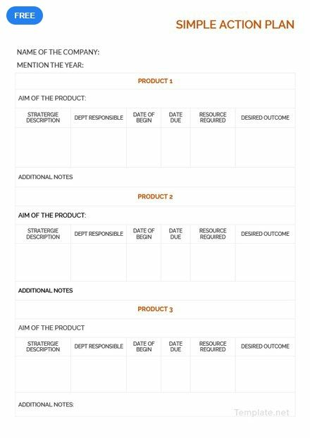 Free Simple Action Plan Action Plan Template How To Plan