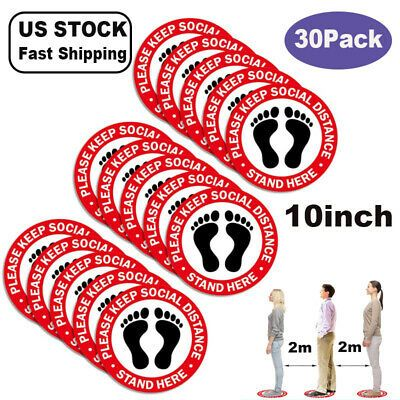 30x Social Distancing Floor 10 Vinyl Decal Stand Here Sticker Safety Warning Us In 2020 Vinyl Decals Vinyl Decal Stickers Vinyl Sticker