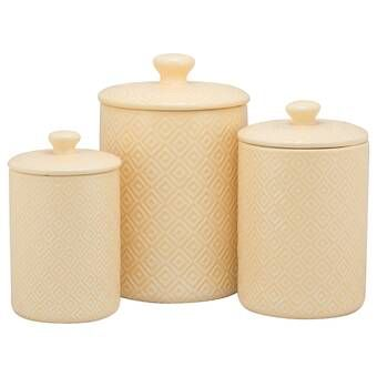3 Piece Kitchen Canister Set Kitchen Canisters Canister Sets