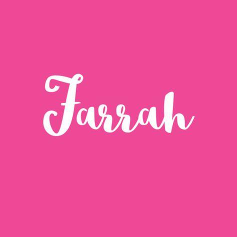 Farrah - Baby Names That Mean Joy - Photos
