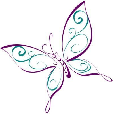 Pin By Cassie Brooks On Drawings Butterfly Drawing Purple Butterfly Tattoo Butterfly Clip Art