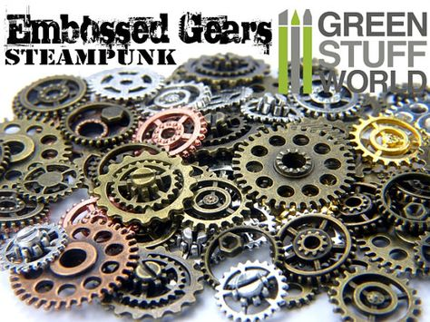 Steampunk Set 85gr Cyberpunk Jewellery craft Cogs and Gears Medium Size