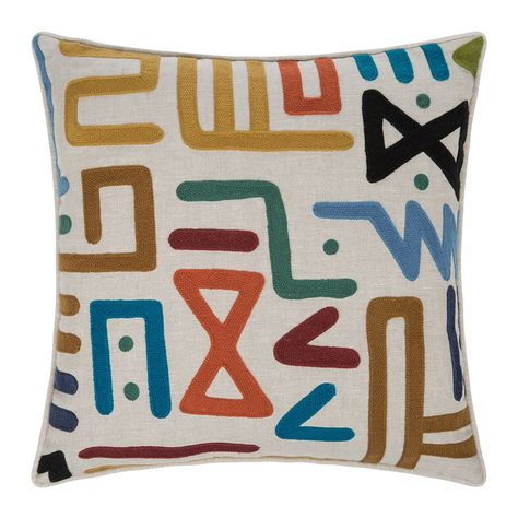 Update Your Cushion Collection With This Rain Dance Cushion From Mulberry Home Exclusively At Amara On A Dance Pillows African Pillow Abstract Pattern Design