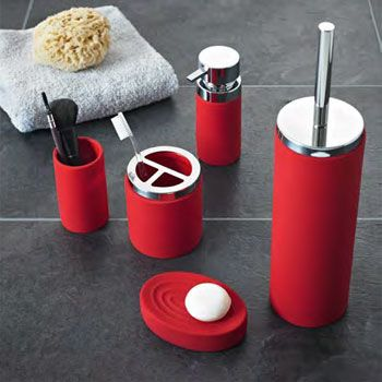 Red Bathroom Accessories To Brighten Up Your Bathroom Red