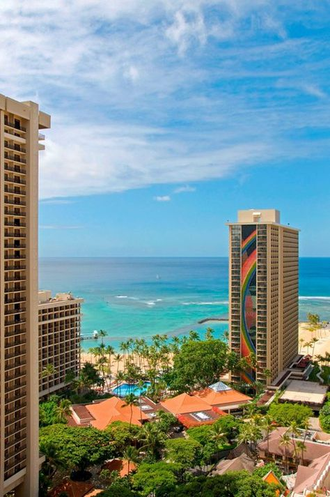 The Hilton Hawaiian village is a large property with 3 or 4 more hotels - huge hotels in Hawaii sometimes are built with so much reflective glass that many native birds die from flying into them