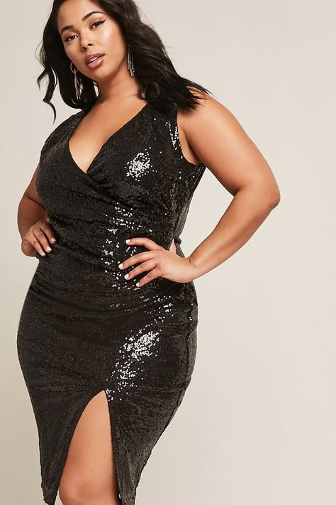 511597b1 FOREVER 21+ Plus Size Metallic Sequin Dress | Trabia majors