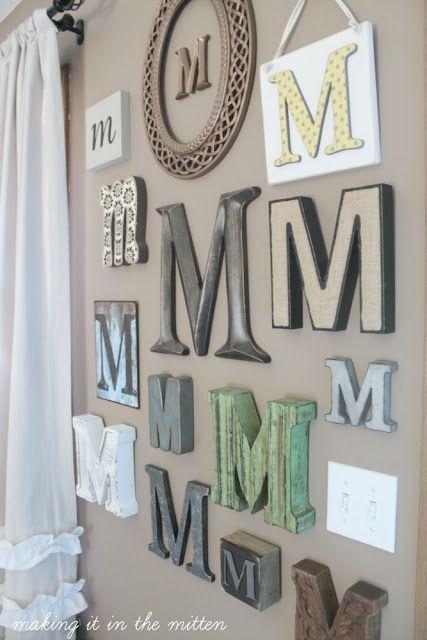 10 Letras en la pared decoracion