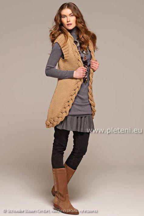 2a0cc823c2f2 dámská ručně pletená vesta z příze Merino 85