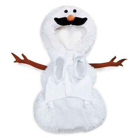 Casual Canine Mustache Snowman Dog Costume