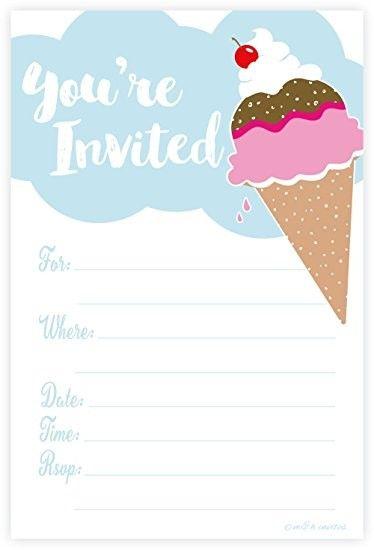 Cool Free Printable Ice Cream Baby Shower Invitation Idea Ice Cream Party Invitations Ice Cream Invitation Ice Cream Party