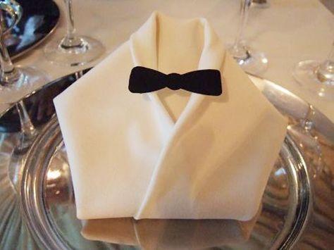 Great napkin fold for a James Bond theme