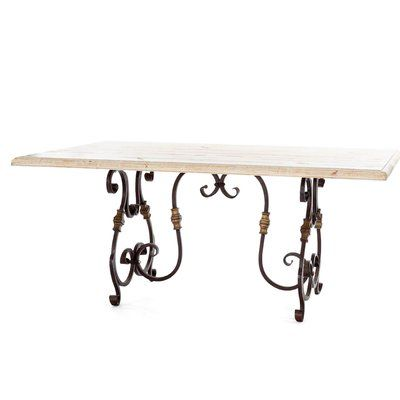 French Market Collection Rustic Dining Table Top Color Cream