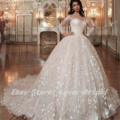 The Wedding Dress Does Not Include Any Accessories Such As Gloves Wedding Veil Wedding Dress Long Sleeve Ball Gown Wedding Dress Wedding Dresses Lace Ballgown