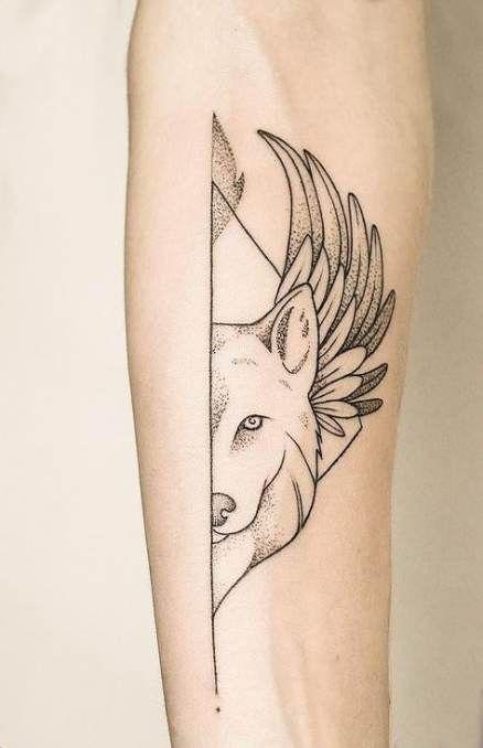 Tattoo Wolf Minimalist 58 Super Ideas Wolf Tattoos For Women Geometric Wolf Tattoo Small Wolf Tattoo