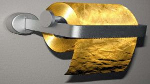 24k gold toilet paper. Wipe your bum with 24K gold toilet paper  Charlie s Golden Nuggets Pinterest