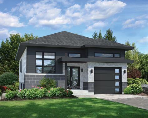 small grey hip roof house (1) u2026 Pinteresu2026 - comment calculer surface habitable d une maison