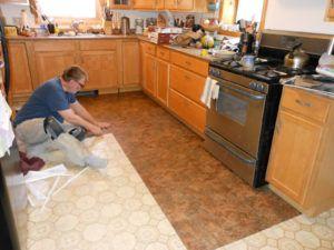 Linoleum Kitchen Floor Covering