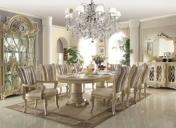 Dining Room Set White Homey Design 12 Pc Traditional