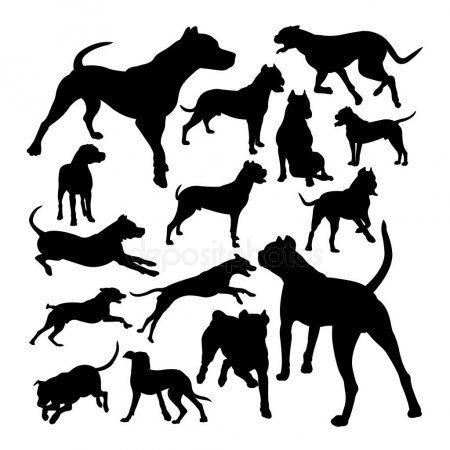 Dogo Argentino Dog Animal Silhouettes Good Use Symbol Logo Web