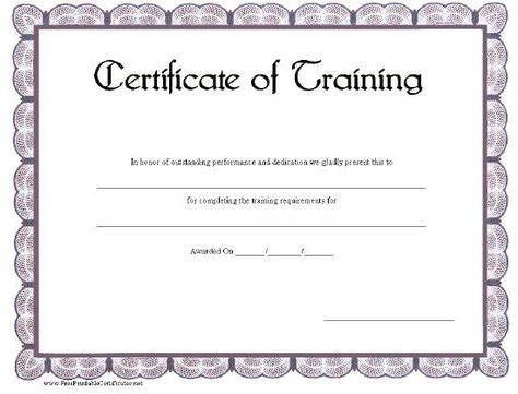 Fake Skills Training Certificates  Training Certificate And