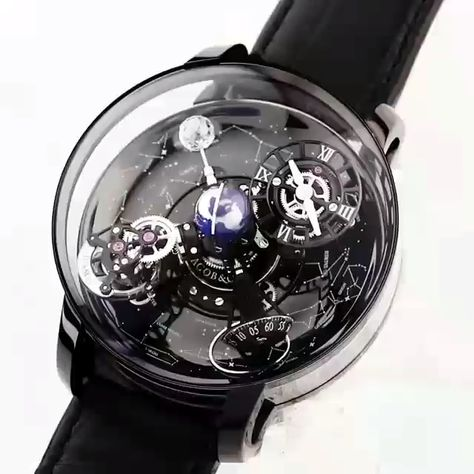 Jacob & Co. [NEW][LIMITED 18 PIECE] Astronomia Sky Black Gold Tourbillon AT110.31.AA.WD.A