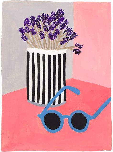 """Friday Illustration #4 : Léa Maupetit, """"Glasses"""" - Trendy Mood - Magazine Lifestyle"""