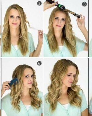 Frisur Mit Lockenstab Frisuren Haar Styling Locken Machen