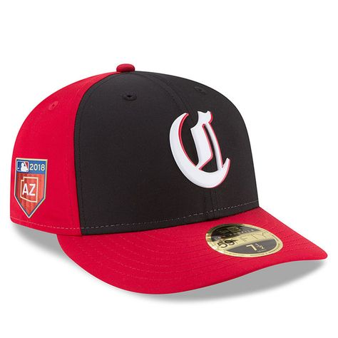 01c9018fd2b32 Cincinnati Reds New Era 2018 Spring Training Collection Prolight Low  Profile 59FIFTY Fitted Hat – Black Red