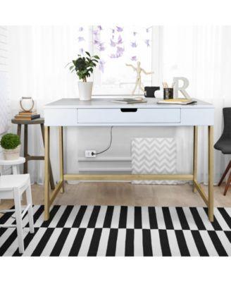 Farmhouse Desk With Usb