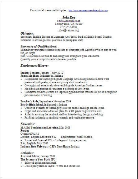 Functional Resume Samples Bestresumetemplate Functional Resume