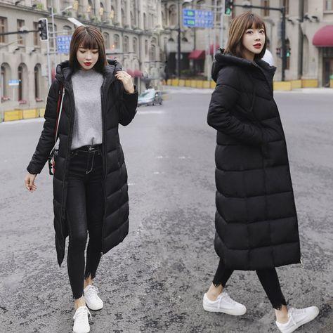 Winter Jacket Women Plus Size 6XL 2018 Warm Slim Zipper Autumn Long Women Parkas Thicken Outerwear C