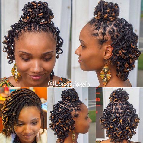 68 Loc Hairstyles For Medium Length Hair Ideas Locs Hairstyles Natural Hair Styles Dreadlock Styles