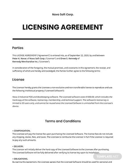 67 Free Software Agreement Templates Edit Download Template Net Basic Software Agreement Templates