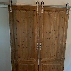 Cypress Chevron Passage Door In 2020 Sliding French Doors Barn Door Barn Doors Sliding