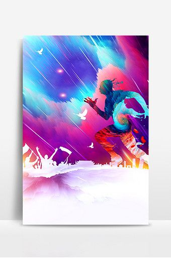 Watercolor Sport More Than Poster Design Background Image Poster