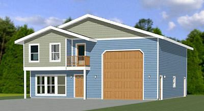 40x42 House 3 Br 2 5 Ba 1 Rv Garage Pdf Floor Plan 1 619 Sqft Model 2b In 2020 Metal Building Homes House Plans Building A House
