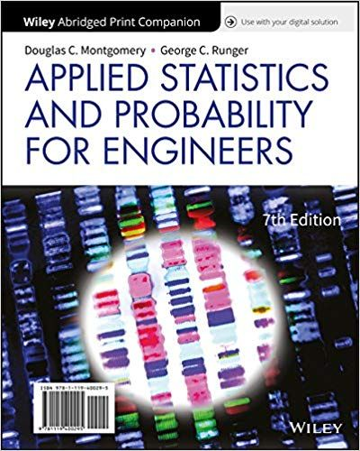 Applied Statistics And Probability For Engineers 7th Edition By Douglas C Montgomery Probability How To Apply Statistics